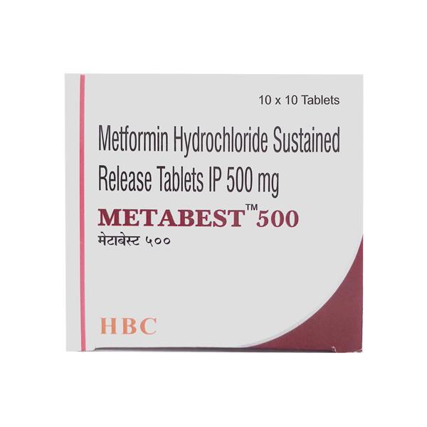 Metabest 500mg Tablet 10'S