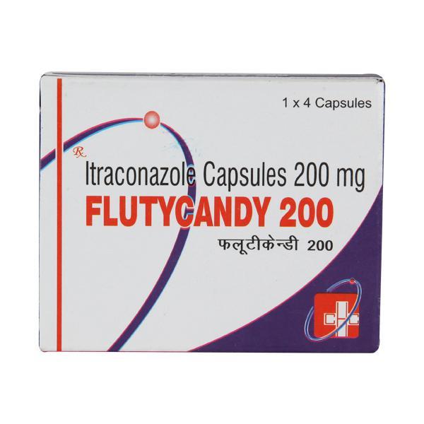 Flutycandy 200mg Capsule 4'S