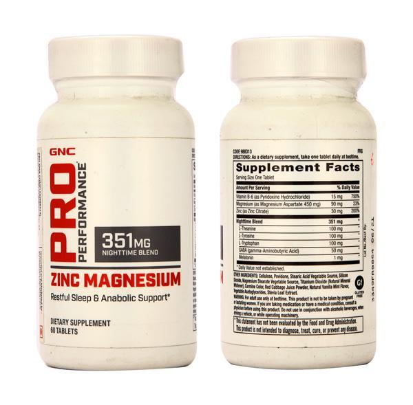 GNC Pro Performance Zinc Magnesium 351 mg Tablets 60's