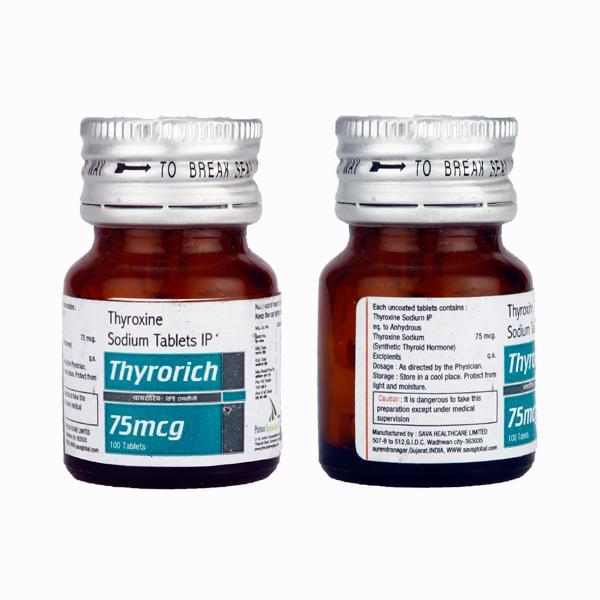 Thyrorich 75mcg Tablet 100 S Buy Medicines Online At Best Price
