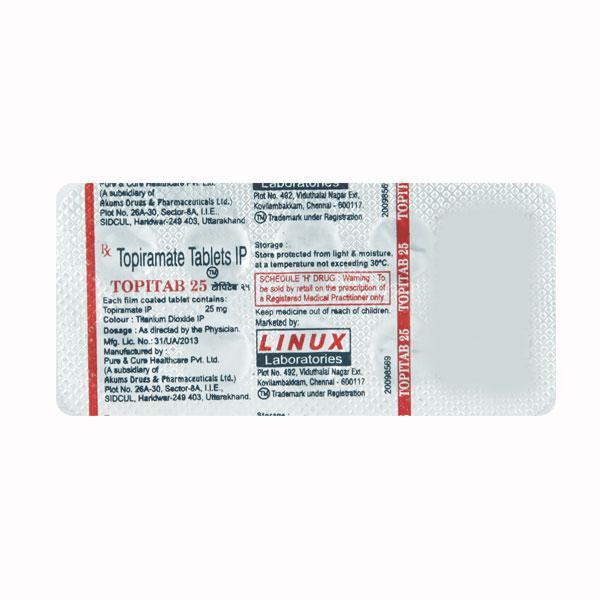 Topitab 25mg Tablet 10'S