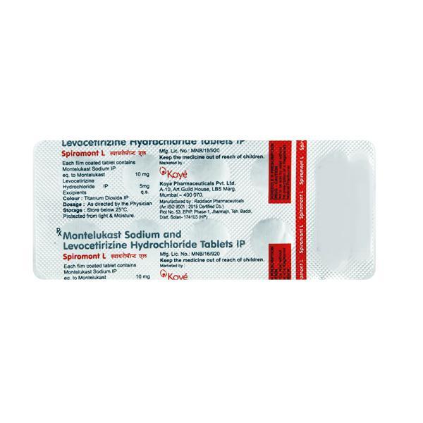 Spiromont L 10/5mg Tablet 10'S