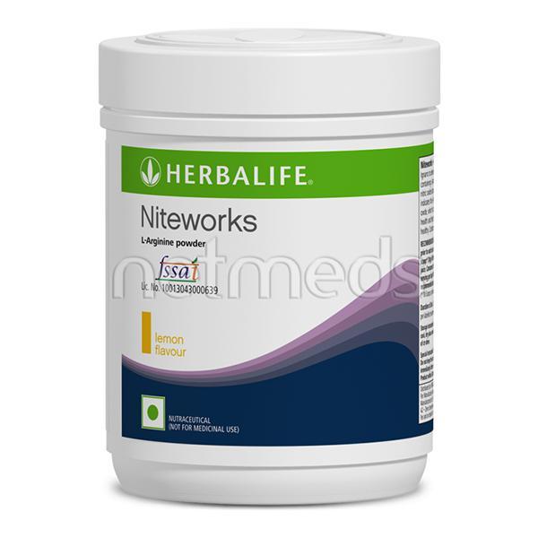 Herbalife Niteworks L-Arginine Powder - Lemon Flavour 300 Gm