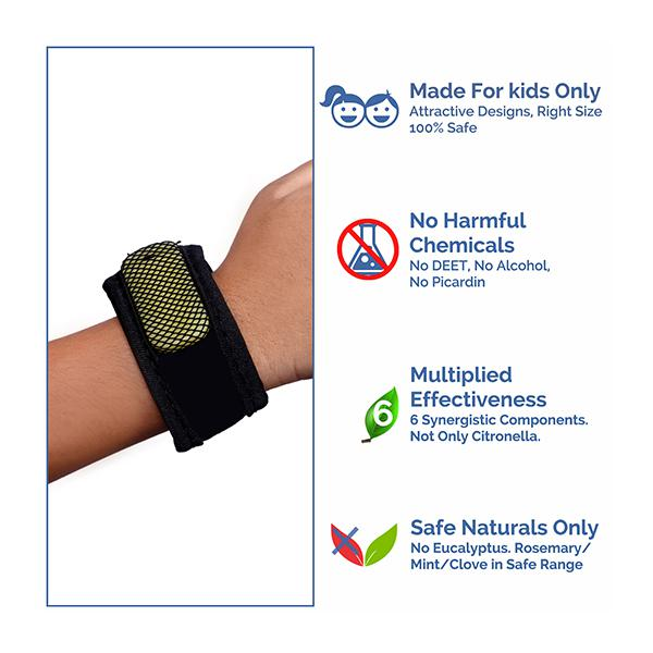 Baby Safety Inc Black Mosquito Repellent Band (2 Refills + 6 Patches)
