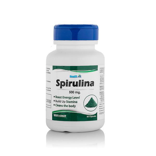 Healthvit Spirulina 500Mg Capsule 60'S