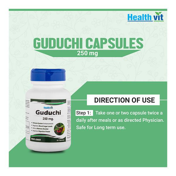 HealthVit Guduchi 250 mg Capsule 60's