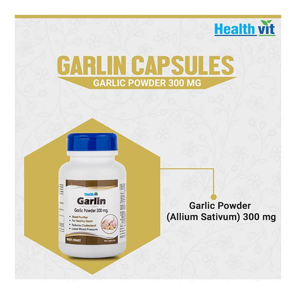 HealthVit Garlin 300 mg Capsule 60's
