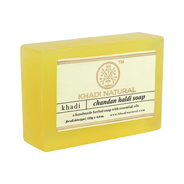 Khadi Natural Herbal Soap - Chandan Haldi 125 gm