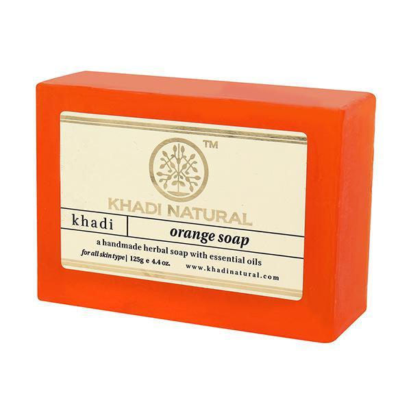 Khadi Natural Herbal Soap - Orange 125 gm