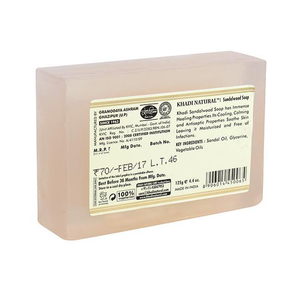 Khadi Natural Herbal Soap - Sandalwood 125 gm