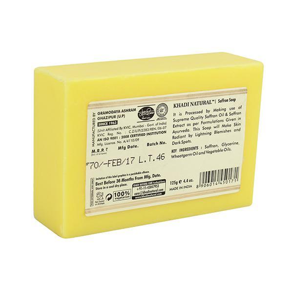 Khadi Natural Herbal Soap - Saffron 125 gm