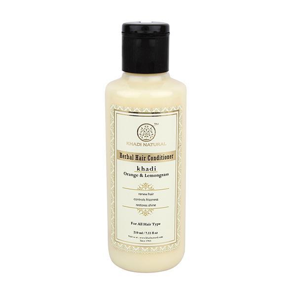Khadi Natural Herbal Hair Conditioner - Orange Lemongrass 210 ml