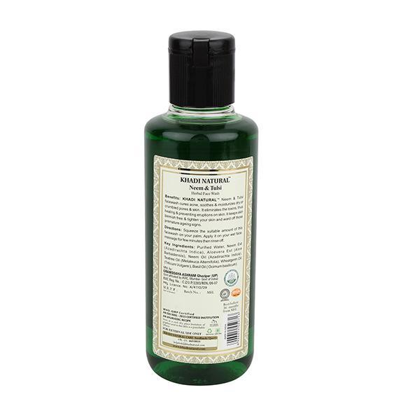 Khadi Natural Herbal Face Wash - Neem & Tulsi 210 ml