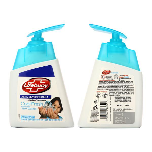 Lifebuoy Cool Fresh Menthol Germ Protection Handwash Pump 190 ml