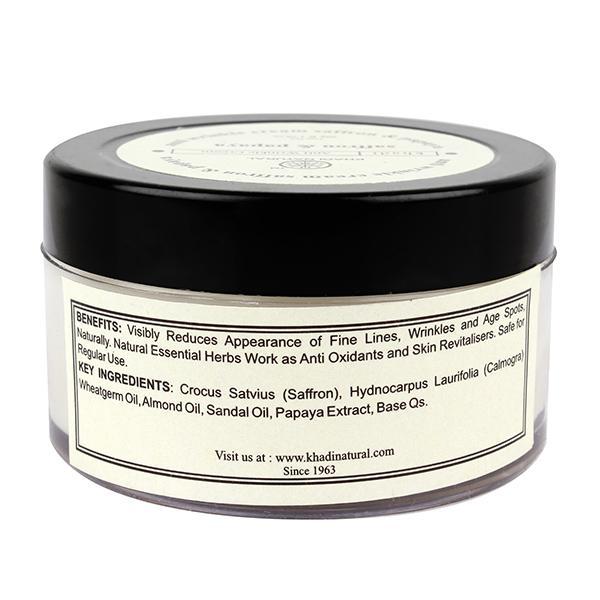Khadi Natural Anti Wrinkle Cream - Saffron & Papaya 50 gm