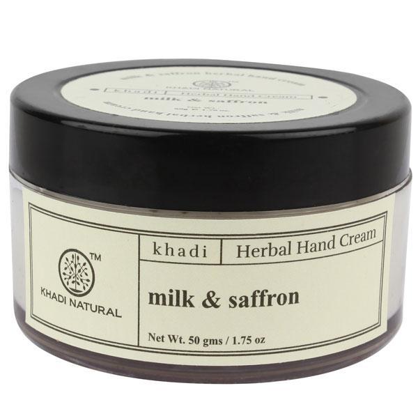 Khadi Natural Herbal Hand Cream - Milk & Saffron 100 gm