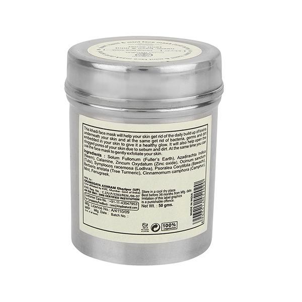 Khadi Natural Herbal Face Mask - Neem Basil & Mint 50 gm