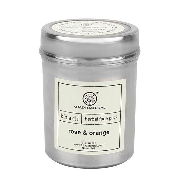 Khadi Natural Herbal Face Pack - Rose & Orange 50 gm