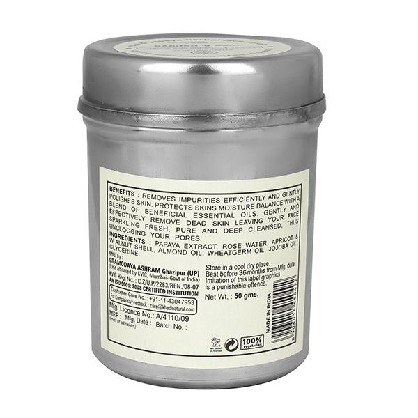 Khadi Natural Herbal Face Scrub - Rose & Papaya 50 gm