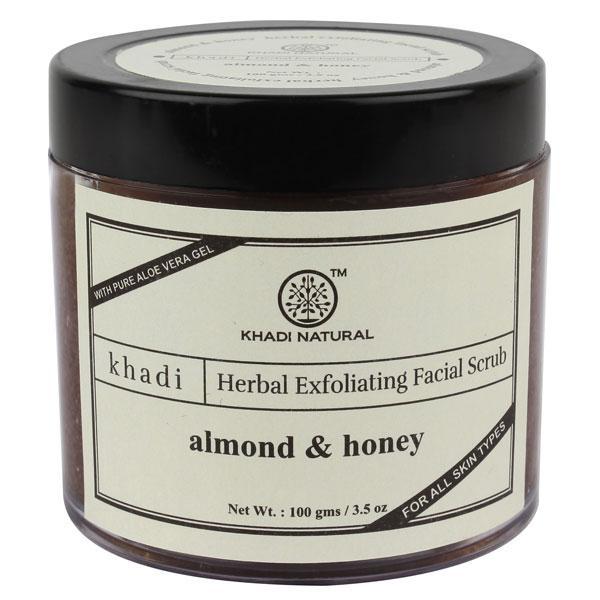 Khadi Natural Herbal Exfolliating Facial Scrub - Almond & Honey 50 gm