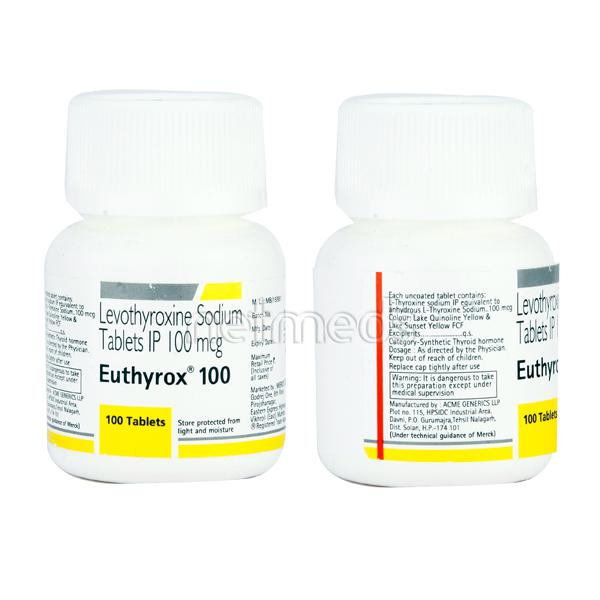 Euthyrox 100mcg Tablet 100 S Buy Medicines Online At Best Price