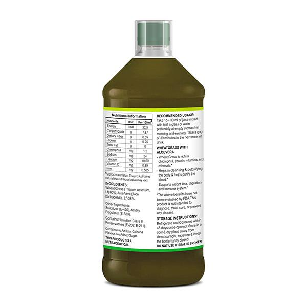 St.Botanica Wheatgrass Juice with Aloevera 500 ml