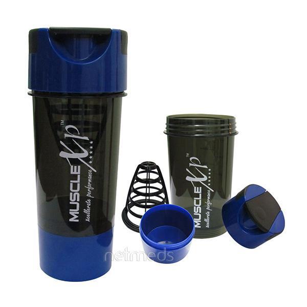 MuscleXP Advanced Mixer Gym Shaker - Black and Blue 500 ml