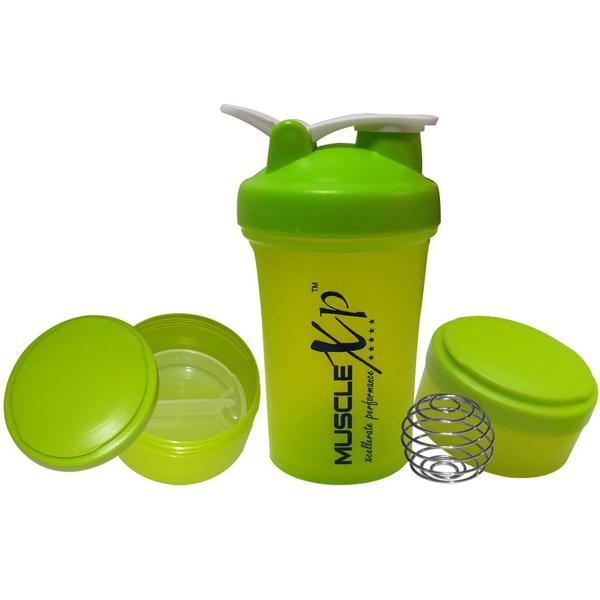 MuscleXP Advancedstak Protein Shaker with Steel Ball - Green & White 500 ml