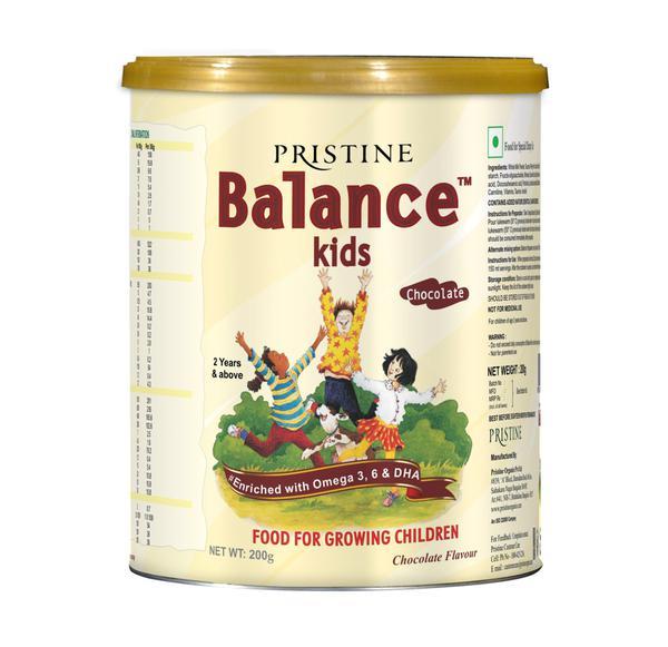 Pristine Balance Kids Nutrition Powder - Chocolate Flavour 200 gm (Tin)