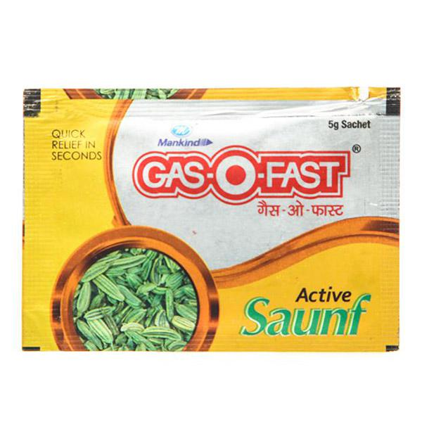 Gas-O-Fast Sachet - Active Saunf Flavour 5gm (Pack of 120 X 5 gm)
