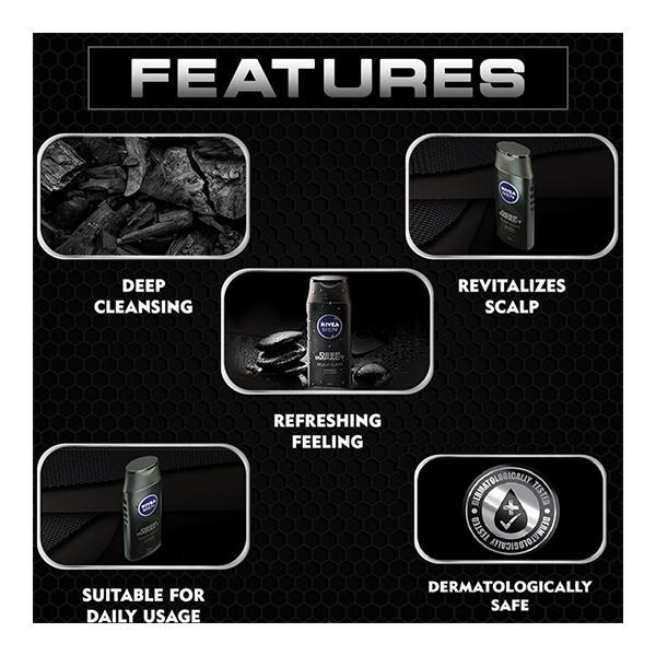 Nivea Men Deep Impact Shampoo - Scalp Clean 250 ml