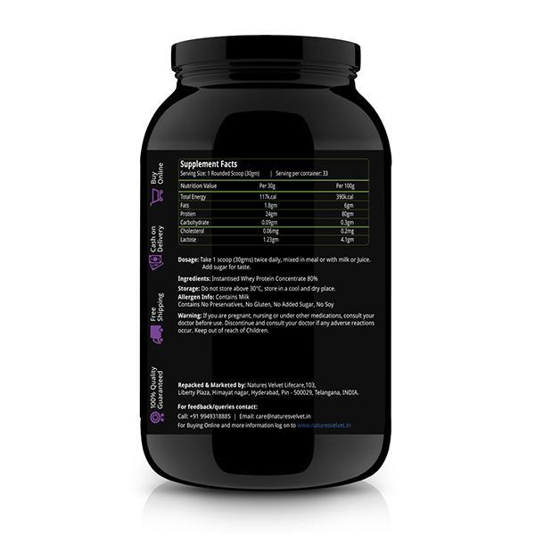 Natures Velvet 100 % Whey Protein Powder 1000 gm