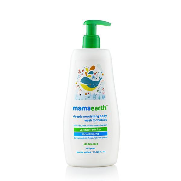 Mamaearth Deeply Nourishing Body Wash for Babies 400 ml