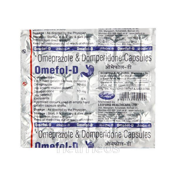 Omefol D 10/20mg Capsule 15'S