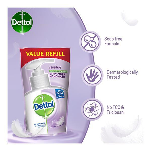 Dettol pH Balanced Handwash - Sensitive (Pack of 3 x 175 ml)