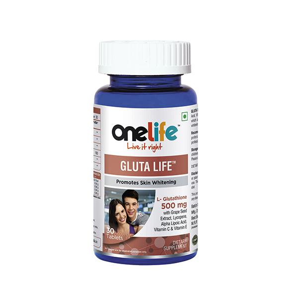 Onelife Gluta Life (Promotes Skin Whitening) Tablet 30's