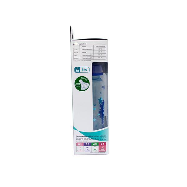 Pigeon Peristaltic Clear Nursing Bottle Rpp for Boy - Blue 240 ml