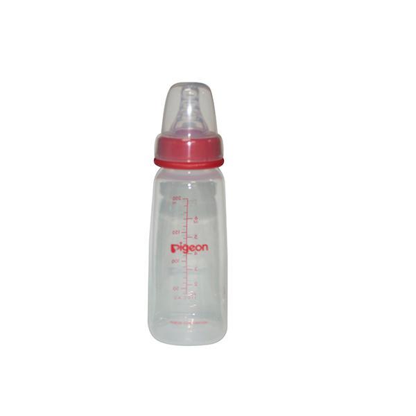 Pigeon Peristaltic Nursing Bottle Kpp with 2 Nipples (M) - Red 200 ml