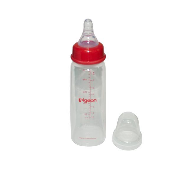 Pigeon Peristaltic Nursing Bottle Kpp with 2 Nipples (M) - Red 240 ml