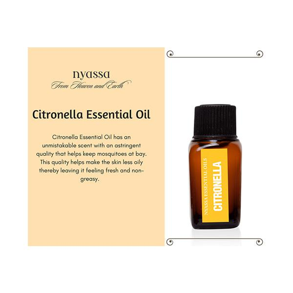 Nyassa Citronella Essential Oil 100% Pure & Natural 10 ml