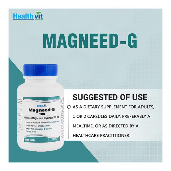HealthVit Magnesium Glycinate 100 mg Capsule 60's