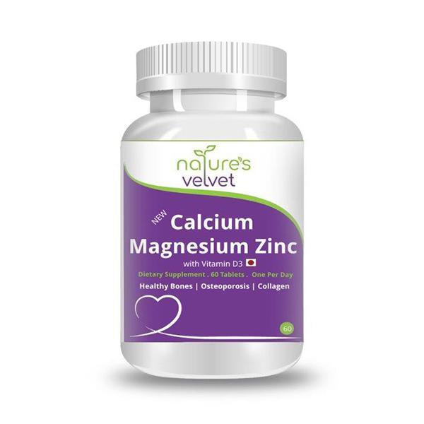 Natures Velvet Calcium Magnesium Zinc with Vitamin D3 Tablets 60's