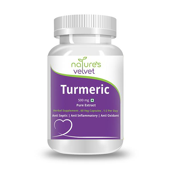 Natures Velvet Turmeric Pure Extract 500 mg Capsules 60's