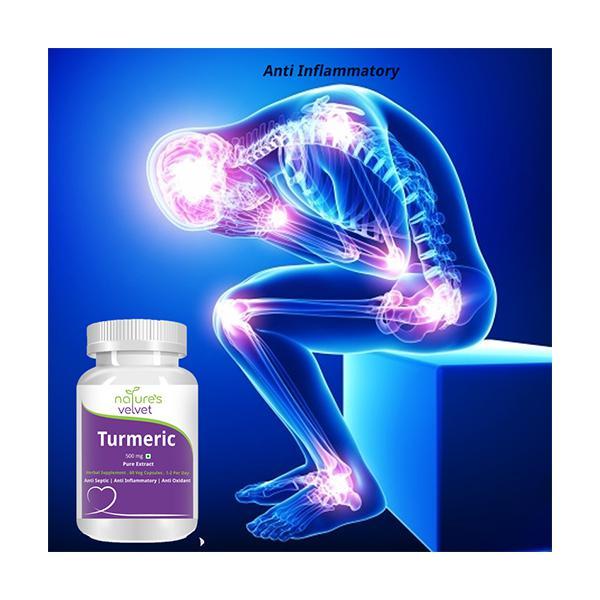 Natures Velvet Turmeric Pure Extract 500 mg Capsules 60's