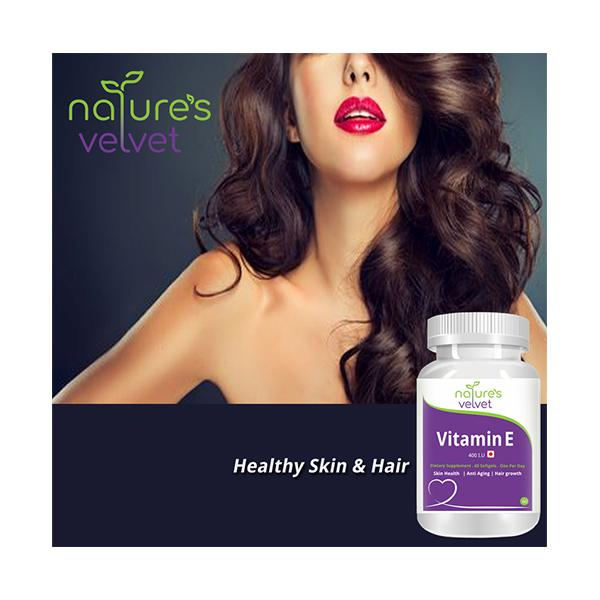 Natures Velvet Vitamin E 400 I.U Softgel 60's