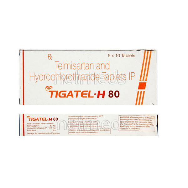 Tigatel H 80mg Tablet 10'S