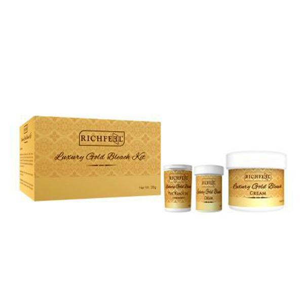Richfeel Luxury Gold Bleach Kit (Pack of 2 x 28 gm)