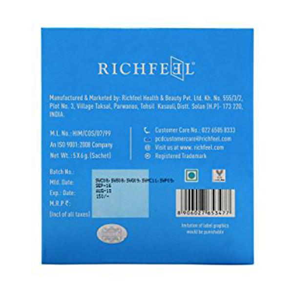 Richfeel Skin Whitening Facial Kit (Pack of 5 x 6 gm)