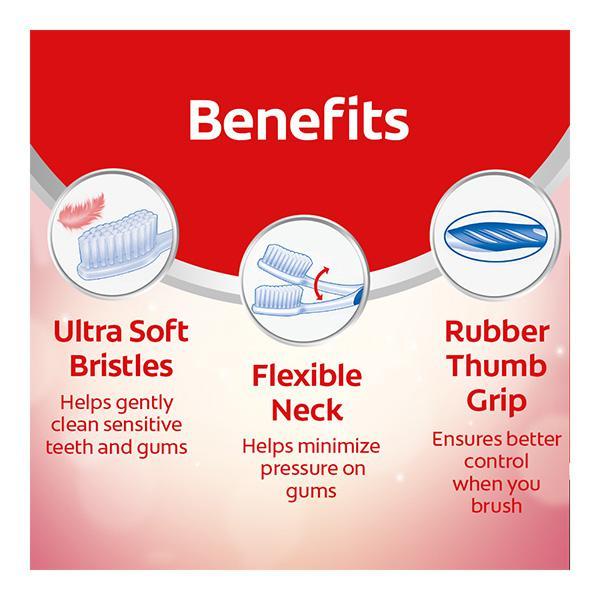 Colgate Gentle Sensitive+ Ultrasoft Toothbrush (Pack of 4)