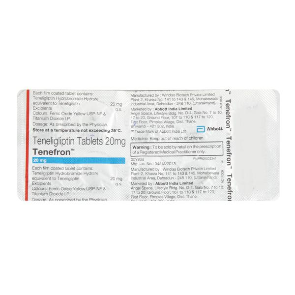 Tenefron 20mg Tablet 10'S
